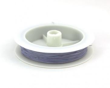Schmuckdraht, Edelstahldraht, Tigertail, 7 Stränge, lila violett, ø 0.38 mm, 1 Spule