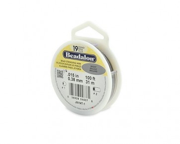 Beadalon® Juwelierdraht, 19 Stränge, silbergrau, ø 0.38mm, 31 m