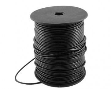 Schmuckkordel Polyesterkordel schwarz gewachst, 2.4 mm