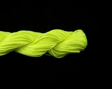 Nylonschnur, Makramee Nylonfaden 1mm geflochten, neon gelb, 24m