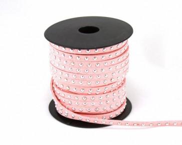 Schmuckband Meterware, Wildlederband Imitation für Nietenarmbänder, rosa, 5 mm, 1m