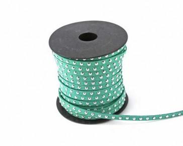 Schmuckband Meterware, Wildlederband Imitation für Nietenarmbänder, türkis, 5 mm, 1m
