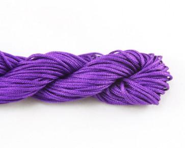 Nylonschnur, Nylonfaden, Makramee Nylonkordeln 1mm geflochten, violett, 24m