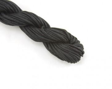 Nylonschnur, Nylonfaden, Nylonkordel 2mm geflochten, schwarz, 12m