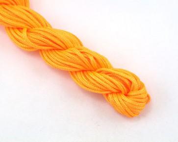 Nylonschnur, Nylonfaden, Nylonkordel Makramee Garn 2mm geflochten, hell-orange, 12m