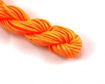 Nylonschnur, Nylonfaden, Nylonkordel Makramee Garn 2mm geflochten, leucht-orange, 12m