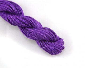 Nylonschnur, Nylonfaden, Nylonkordel Makramee Garn 2mm geflochten, violett, 12m