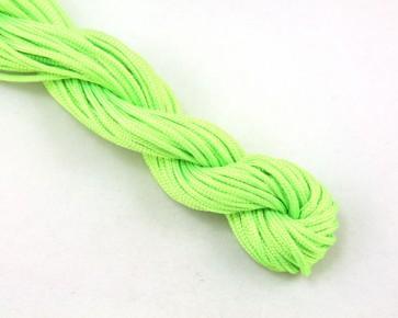 Nylonschnur, Nylonkordel, Makramee Garn 2 mm geflochten, hell grün, 12m