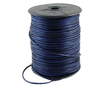 Schmuckkordel Polyesterkordel gewachst, royalblau, 2.4 mm