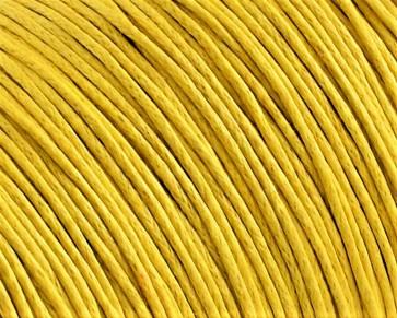 Gewachste Baumwollkordeln, Schmuckkordeln, Wachsbänder, 1 mm, gelb