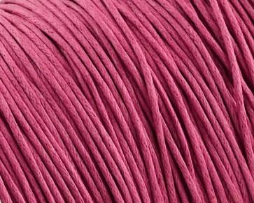 Gewachste Baumwollkordeln, Schmuckkordeln, Wachsbänder, 1 mm, pink magenta