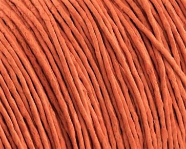 Gewachste Baumwollkordeln, Schmuckkordeln, Wachsbänder, 1 mm, orange