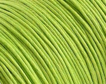 Gewachste Baumwollkordeln, Schmuckkordeln, Wachsbänder, 1 mm, hellgrün