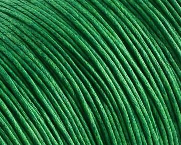 Gewachste Baumwollkordeln, Schmuckkordeln, Wachsbänder, 1 mm, grün