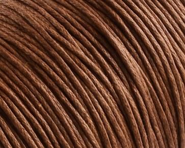 Gewachste Baumwollkordeln, Schmuckkordeln, Wachsbänder, 1 mm, braun
