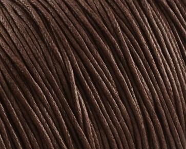 Gewachste Baumwollkordeln, Schmuckkordeln, Wachsbänder, 1 mm, dunkelbraun