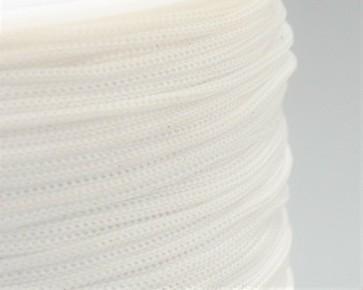 Polyesterkordel, Polyestergarn für Makramee, 0.8mm geflochten, weiss