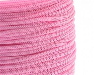 Polyesterkordel, Polyestergarn für Makramee, 0.8mm geflochten, rosarot, ca.120m