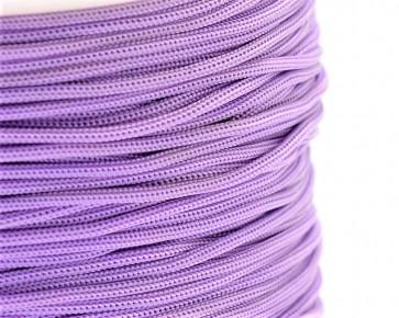 Polyesterkordel, Polyestergarn für Makramee, 0.8mm geflochten, lila, ca.120m