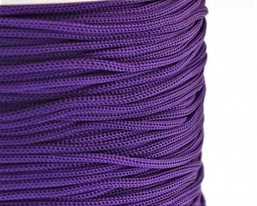 Polyesterkordel, Polyestergarn für Makramee, 0.8mm geflochten, violett, ca.120m
