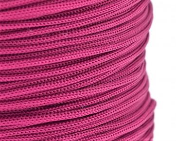 Polyesterkordel, Polyestergarn für Makramee, 0.8mm geflochten, fuchsia pink, ca.120m