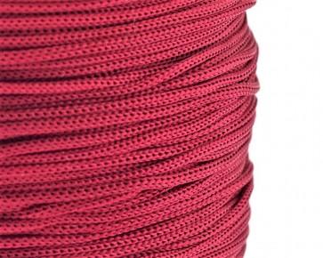 Polyesterkordel, Polyestergarn für Makramee, 0.8mm geflochten, dunkelrot, ca.120m
