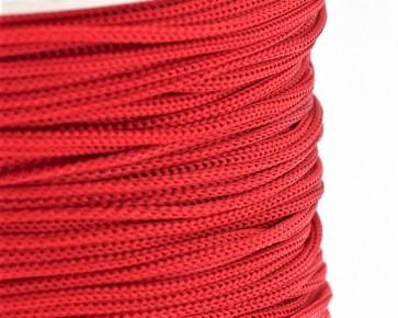 Polyesterkordel, Polyestergarn für Makramee, 0.8mm geflochten, rot, ca.120m