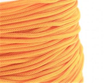 Polyesterkordel, Polyestergarn für Makramee, 0.8mm geflochten, orange, ca.120m