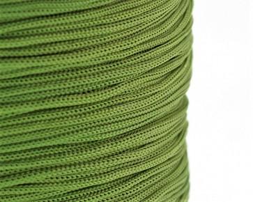 Polyesterkordel, Polyestergarn für Makramee, 0.8mm geflochten, olivgrün, ca.120m