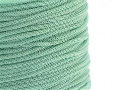 Polyesterkordel, Polyestergarn für Makramee, 0.8mm geflochten, aquamarin, ca.120m
