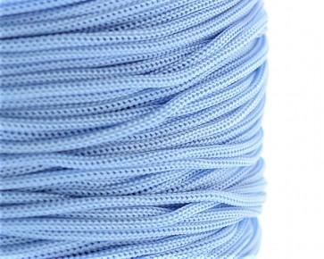 Polyesterkordel, Polyestergarn für Makramee, 0.8mm geflochten, hellblau, ca.120m