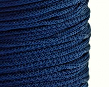Polyesterkordel, Polyestergarn für Makramee, 0.8mm geflochten, dunkelblau, ca.120m