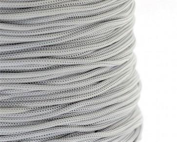 Polyesterkordel, Polyestergarn für Makramee, 0.8mm geflochten, hellgrau, ca.120m