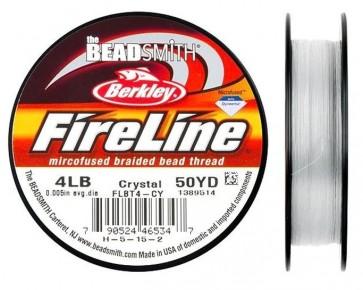 Berkley Fireline Perlfaden, crystal, 4lb, 0.12mm, 45.8 m