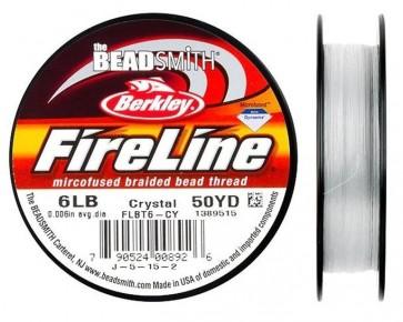 Berkley Fireline Perlfaden, crystal, 6lb, 0.15mm, 45.8 m