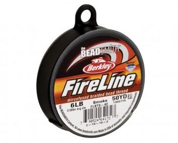 Berkley Fireline Perlfaden, smoke / rauchgrau, 6lb, 0.15mm, 45.8 m