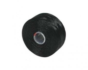 S-Lon Perlfaden, Tex 45, Grösse D, schwarz, 1 Spule