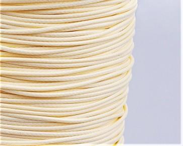 Schmuckkordel Polyesterschnur creme-weiss gewachst, 1mm