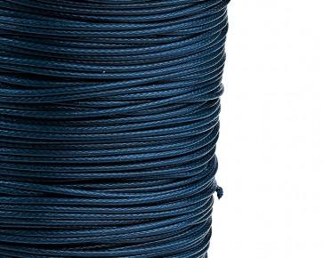 Schmuckkordel Polyesterschnur dunkelblau gewachst, 1mm