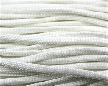 Paracord Kordel, 4mm, uni weiss, 10m