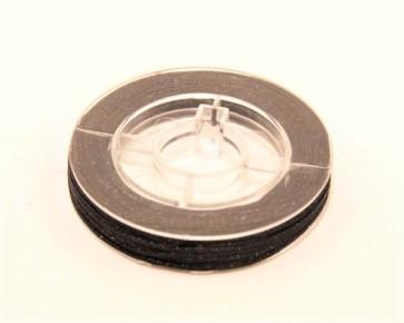 Makramee Nylonschnur, Nylonfaden 0.8mm, braun, geflochten, ca. 9m