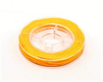 Makramee Nylonschnur, Nylonfaden 0.8mm, orange, geflochten, ca. 9m