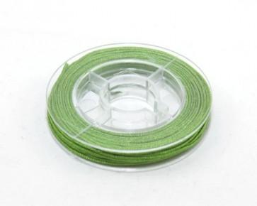 Makramee Nylonschnur, Nylonfaden 0.8mm, grün, geflochten, ca. 9m