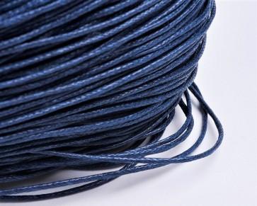 Gewachste Baumwollkordeln, Wachsbänder, 1mm, dunkelblau, 10m