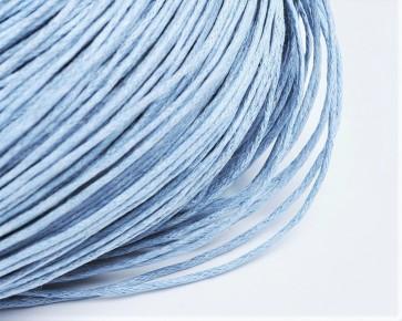 Gewachste Baumwollkordeln, Wachsbänder, 1mm, hellblau, 10m