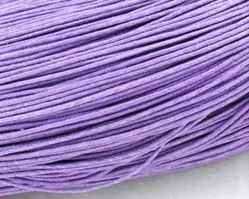 Gewachste Baumwollkordeln, Wachsbänder, 1mm, lila, 10m