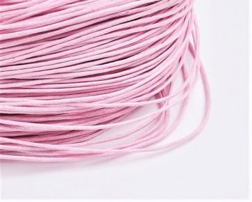 Gewachste Baumwollkordeln, Wachsbänder, 1mm, rosa, 10m