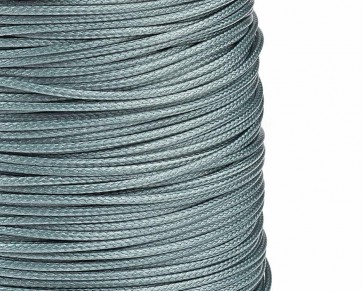 Schmuckkordel Polyesterschnur silbergrau gewachst, 1mm
