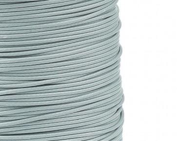 Schmuckkordel Polyesterschnur hellgrau gewachst, 1mm