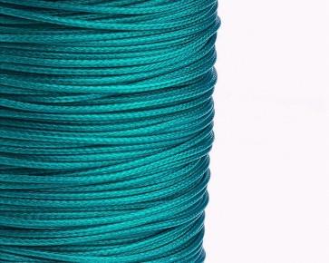 Schmuckkordel Polyesterschnur smaragdgrün gewachst, 1mm